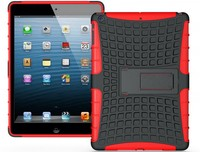 wholesale!! Hybird Armor Case Holster Kickstand heavy duty case with stand for ipad air for ipad 5