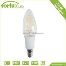 low cost long lifetime led c35 c35t candle filament led bulb
