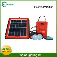 Green 5w solar panel solar indoor home lighting kit with USB 5V output port