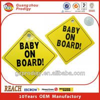 Baby on Board suction cup sign for car