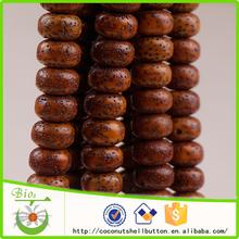 114pcs shinny natural dark yellow drum shape rattan fruit custom bodhi seed beads supply