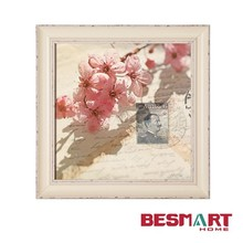 wholesale decorative picture frames / Vintage framed cherry flower Giclee printing canvas art