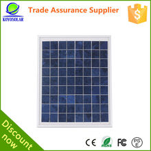 High efficiency factory direct polycrystlline material 20w solar mould panel