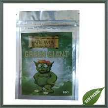 green giant 4g labeled herbal incense potpourri bag with chems ,potpourri herbal incense bag green giant