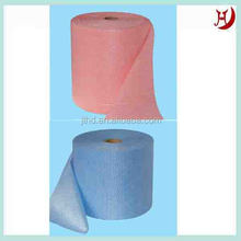 Super absorbant spunlace chiffon de nettoyage/liaison chimique non tissé pour le nettoyage/non tissés chiffon de cuisine( viscose,/polyester,)