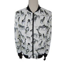 men's printing animal horse varsity pu leather jackets slim fit jacket clothing supplier from china