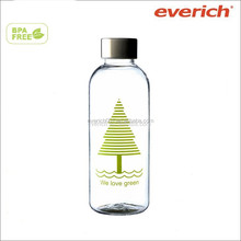 600ML clean plastic transparent drinking water bottle for sports