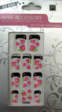 Beautiful Customized 3D Art 18k Nail Sticker / Nail Stickers