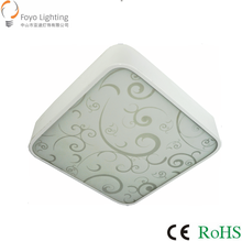 High quality promotional light LED 12w 300mm Square glass Ceiling Lamp driver with CE ROHS suit for indoor lighting/plafon