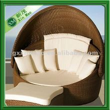 pe rattan modern garden furniture sofa bed 2012