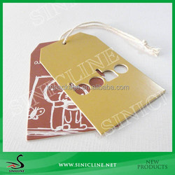 Sinicline Thick Cardboard Hang Tag with Ribbon for Children Clothes