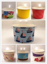 Custom Printed Frozen Yogurt and Ice Cream Paper Cups, Paper Bowls