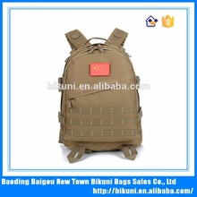 2015 China high quality custom new large capacity outdoor military woodland camouflage canvas backpack hunting bag