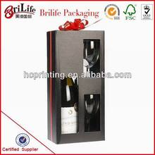 unique recycled gift 2 bottles wine packaging