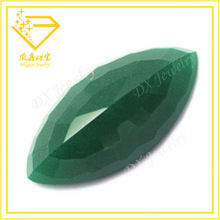 artificial gemstone rough emerald price marquise shape flat back opaque glass gemstone for fashion jewelry