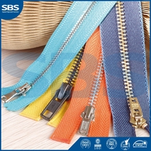 two way metal zipper roll for salefor bags,SBS zipper abaya metal zipper,11# close-end nylon zipper