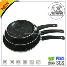FDA & LFGB 3 PCS Aluminium Marbel Coating Fry pan Set for healthy home cooking made in China