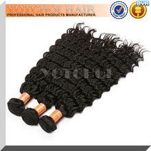 2015 Factory Wholesale Price deep wave asian hair Unprocessed 100% virgin Asian Hair