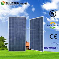 Bluesun high efficiency TUV ISO CE Brazil INMETRO standard suntech 290w polycrystalline solar panels
