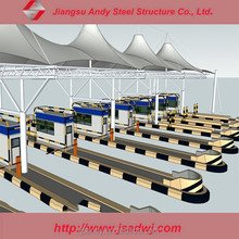 Large Span Space Frame Steel Structure Truss Purlin of Toll Station