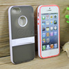 2014 Nice dual color hybrid pc tpu cute mobile cell phone cases for iphone 5 5s with stand