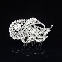 Europe and the United States New Design Set Auger Crystal Hair Comb Wholesale