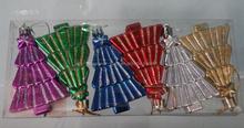 Wholesale Fashion hand painted christmas snow ball ornaments /Plastic christmas tree ball ornaments