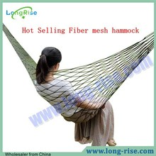 Hot Selling Long Folding Fiber Mesh Tree Straps Hammock for Outdoor Camping
