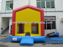 cheap inflatable jumping castle for commercial combo games with slide CE blower for free