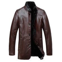 Hot sell MEN mink fur coat , fox Fur Leather jacket Man rabbit fur collar with leather jacket