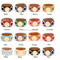 RDW Bracelet Wholesale Monogram Leather Cuff Bracelet Women Fashionable Monogram Leather Bracelet