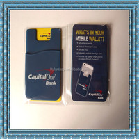 Free Sample !2015 New products 3M adhesive silicone phone card holder silicone phone wallets
