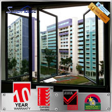 New design ANSI standard glass wind proof french windows designs