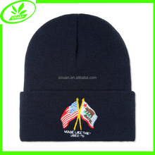 2015 new fashion embroidered tube mens winter hat