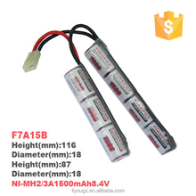F8A15B Ni-MH 2/3A 1500mAh 9.6V rechargeable battery packs