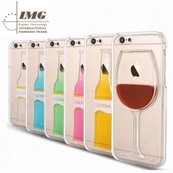 New products 2015 innovative product cocktail RedWine TPU case for iphone 6, for iphone 6 case china supplier