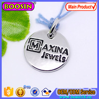 Customized Metal Logo Charm Custom Letter and Words of Brand Engraved Jewelry Tag