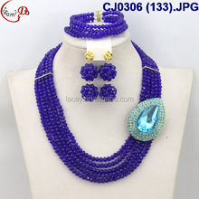 CJ0306 (133) hot sells fashion elegant dark blue beads jewelry sets for wedding/evening party