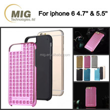 Fashional Rivet mobile phone case for iphone 6s/ 6/ 5s, bling cell phone cover for samsung galaxy s6/ s6 edge/ s5/ s4/ s3