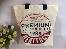 38cm x 44.5cm tow color Cotton Shopping bag