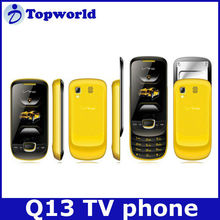 Factory Cheapest Q13 Mobile Phone Slide Feature Phone Bluetooth TV Dual Cards