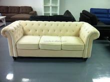 Rolled Arm chesterfield sofa, white velvet chesterfiled sofa, three seat design chesterfield sofa H109
