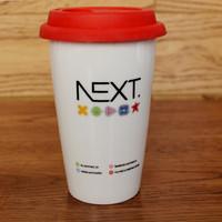 high-quality promotional drinkware, glazed sublimation ceramic coffee mug with lid