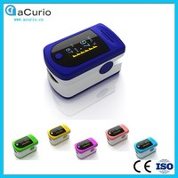 High Quality aCurio Brand Color OLED Screen Alarm Digital Pulse SpO2 Fingertip Oximeter Digital Pulse Analyzer for Sale