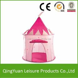 Hot sales kids play castle tent pink color/Princess Tent/children Tent