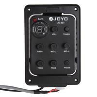hot 5pcs JOYO JE-307 5 Band EQ Equalizer Preamp Guitar Pickup With Digital Tuner