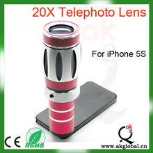Mobile Phone 20x Magnification Zoom 800M Optical Telescope Telephoto Lens For iPhone 5S DSLR Camera