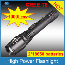 With CE, RoHS, China supplier 3-Modes 900Lumens Adjustable Focus rechargeable flashlight bailong
