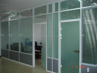 clear glass partition wall,glass room partition