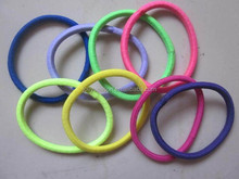 Rope Elastic Hair Ties 4mm Thick Hairbands Girl's Hair Bands colorful